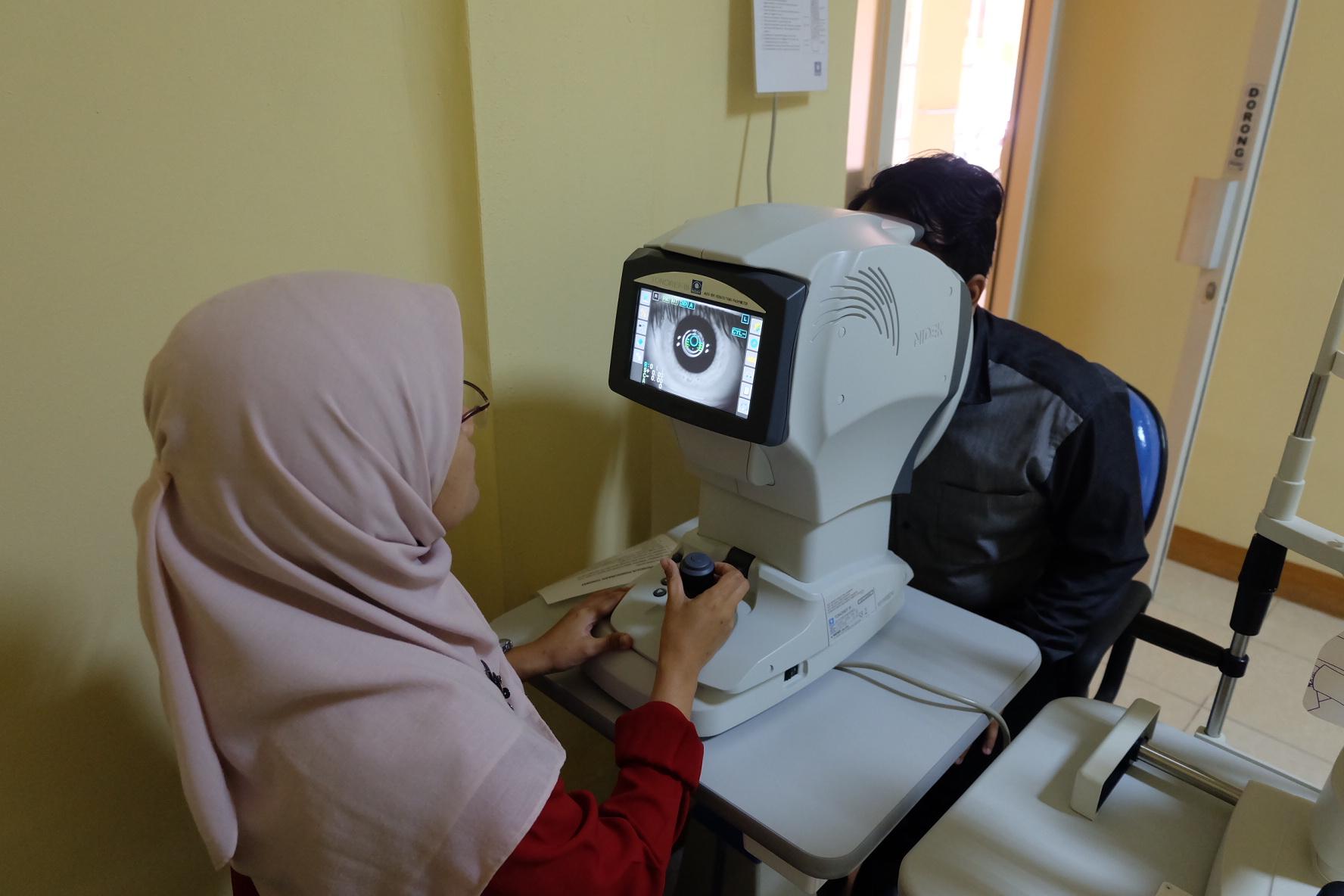 Kegiatan dalam rangka pemeriksaan mata